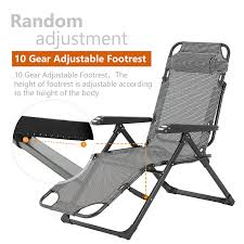 Mecor Lounge Chairs Folding Bed Adjustable Recliner Patio ...