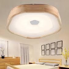 holz led deckenleuchte holz wohnzimmer warm studie acryl len japanischen stil log schlafzimmer deckenleuchte za91540