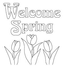 Spring Printable Coloring Pages Print Out Flowers Tulips Free Springtime