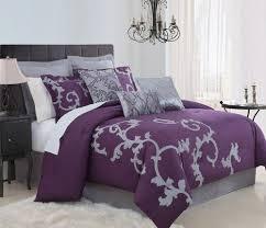 9 Piece Queen Duchess Plum And Gray Comforter Set KingLinen Grey SetsPurple ComforterPurple BedspreadPurple BedroomBedroom Ideas