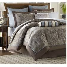 Amazon Luxury Blue Brown Paisley Bedding forter Set of 12