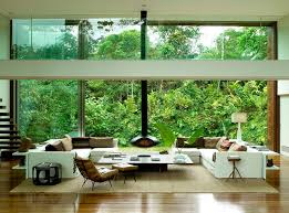 Living Room With Fireplace In The Middle by House In The Middle Of The Amazonian Forest Decoholic