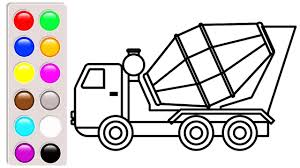 100 Car And Truck And Truck Coloring Pages For Kids Learn Colors With Concrete