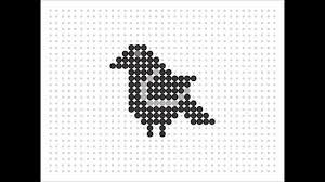 Halloween Perler Bead Patterns by Hama Bead Crow Halloween Series 2 12 Youtube