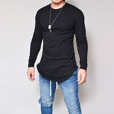 New Men Casual T Shirt Cotton Long Sleeve O Neck Silm Fit Loading Zoom