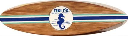 5ft Outdoor Wood Surfboard Pool Tiki Bar Beach Sign Personalized Free