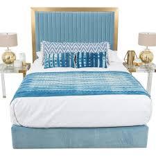 Blue Velvet King Headboard by Modern Beds And Headboards Modshop