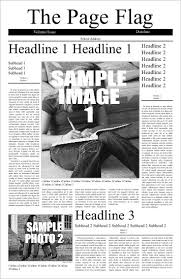 Newspaper Design Front Page Template
