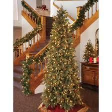 Pre Lit Pencil Christmas Tree Walmart by Gki Bethlehem 6 5 U0027 Green River Spruce Slim Pre Lit Christmas Tree