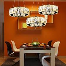 27w 3 ringe led pendelleuchte modern luxus höhenverstellbar hängeleuchte rostfreier stahl kristall hängele wohnzimmer esszimmer