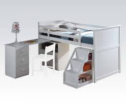 Low Loft Bed With Desk And Dresser by Furniture The Most Amusing Wood Loft Bed With Desk For Kids