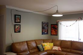 swag ls that plug into wall eggshell silk 17quot hanging in