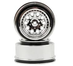100 Chrome Truck Wheels RPM 82333 12mm Spline Drive Revolver Short Course