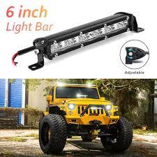 100 Lights For Trucks 18W Car LED Work Bar Light For Trucks 24V 12V LED Off Road Lamp Tractor Motorcycle Light Bulb