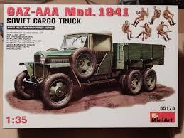 100 Aaa Truck Soviet GAZAAA Mod 1941 Cargo LEICESTER MODELLERS