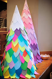 How To Make Big Paper Christmas Trees