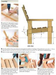 Deck Chair Plans - Outdoor Furniture Plans | Chairs/ Bar ...