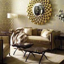 Decorative Mirror On Living Room Wall Unusual Stickers Mirrored Design