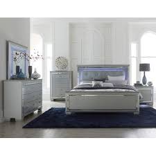 Gray 6 Piece King Bedroom Set Allura