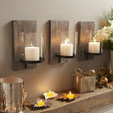 Interior Design Ideas Living Room Rustic Home Accessories Wall Decoration With Candles