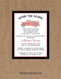 Fire Engine Birthday Party Invitations Free Truck Envelopes First ...