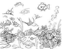 Free Coloring Ocean Pages About Pictures To Color Easy