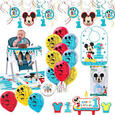 Mickey Mouse Fun To Be One First Birthday Party Supplies And Decorations  Pack With 1st Birthday Mickey Bib, High Chair Kit, Balloons, Rattle,  Birthday ... Minnie Mouse Room Diy Decor Hlights Along The Way Amazoncom Disneys Mickey First Birthday Highchair High Chair Banner Modern Decoration How To Make A With Free Img_3670 Harlans First Birthday In 2019 Mouse Inspired Party Supplies Sweet Pea Parties Table Balloon Arch Beautiful Decor Piece For Parties Decorating Kit Baby 1st Disney