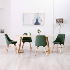 esszimmerstühle 4 stk dunkelgrün samt