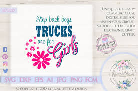 100 Trucks For Girls Are For SVG Cut File LL172D