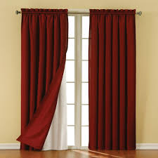 Eclipse Room Darkening Curtain Rod by Eclipse Thermaliner White Blackout Energy Saving Curtain Liners