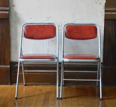 most awesome pair vintage samsonite folding chairs red vinyl