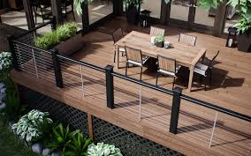 Vault Composite Decking - Deckorators Best 25 Deck Railings Ideas On Pinterest Outdoor Stairs 7 Best Images Cable Railing Decking And Fiberon Com Railing Gate 29 Cottage Deck Banister Cap Near The House Banquette Diy Wood Ideas Doherty Durability Of Fencing Beautiful Rail For And Indoors 126 Dock Stairs 21 Metal Rustic Title Rustic Brown Wood Decks 9