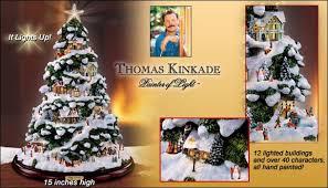 Thomas Kinkade Christmas Tree For Sale by Kinkade Illuminated Village Tabletop Christmas Tree