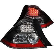 anzo usa honda civic 04 05 2dr l e d lights black