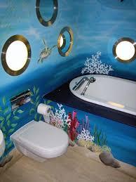 underwater themed bathroom underwater mural painted in childrens
