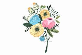 Illustration Clipart Wedding Flower 14