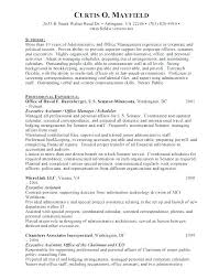 Resume Administrative Assistant Objective Examples Samples Entry Level