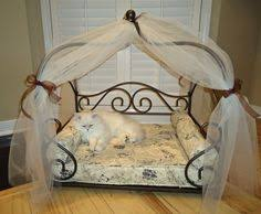 Hand Made Fancy Pet Bed Made From Repurposed Table