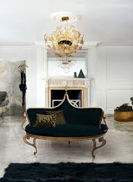 Decorative Ideas For Living Rooms Awesome Luxurious Design Black Fabric Seat Cover Sofa Antique Hanging Lamp