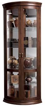 klingsbo light corner glass curio display cabinet corner cabinets
