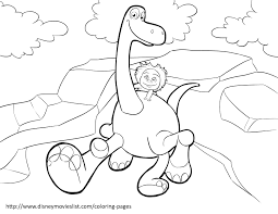 Disneys The Good Dinosaur Coloring Pages Sheet Free Disney In