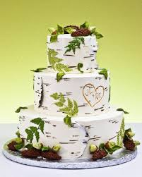 Birch Wood Rustic Wedding Cake Photo CreditBirch Is A Big Trend In