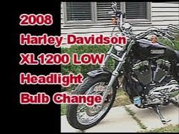 headlight bulb change on 2008 harley davidson sportster xl 1200