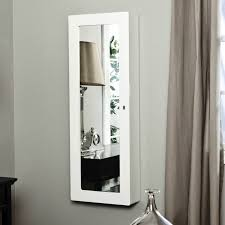 Furniture: Wall Mounted Full Length Mirror Jewelry Armoire In ... Amazoncom Mirrotek Jewelry Armoire Over The Door Mirror Cabinet Innerspace Overthedowallhangmirrored Jewelry Armoire Over The Door Abolishrmcom Ipirations Mirrored Organizer Holder Ideas On Beauty Makeup With Vanity Belham Living Hollywood Locking Wallmount Fniture Rectangullar Black Wooden Odworking Plans Mirrored Choice Image Doors