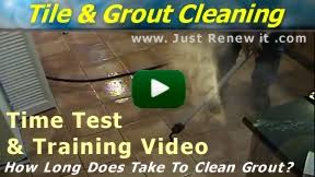 video see a vapor steam cleaner cleaning grout tile
