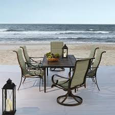 grand resort aspen 7pc padded sling dining set with weatherstone