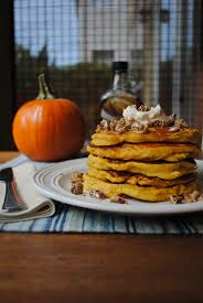 Bisquick Pumpkin Pecan Waffles by Pumpkin Pancakes With Maple Cream And Candied Vanilla Pecans