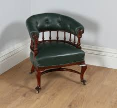 Victorian Mahogany Office Green Leather Desk Tub Library Captains ... Early Victorian Mahogany And Leather Armchair C 1850 United 19th Century Pair Of English Armchairs For Sale Stunning Antique Marylebone Antiques Quality 1870 England From Deep Buttoned C1850 429276 Burgundy Gentlemans Chairs Accent Chair Whit Oval Back And Arm Occasional Ideas