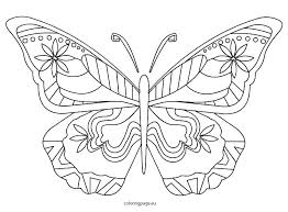 Simple Monarch Butterfly Coloring Page For Kids Adults In Pages A Life Cycle