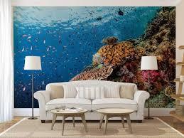 wand wandbild unterwasser aquarium wandtattoo fische wandbild unterwasser wallpaper